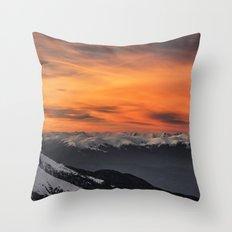 Peaks III Throw Pillow