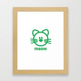 Cat : meow Framed Art Print