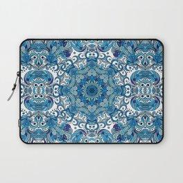 Blue Boho Mandela Pattern Laptop Sleeve