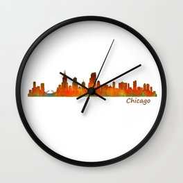 Chicago City Skyline Hq v1 Wall Clock