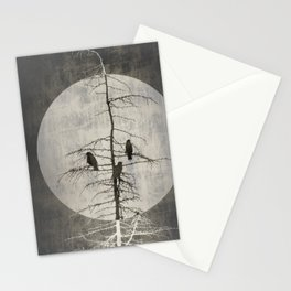 Full Moon and Crows Stationery Cards