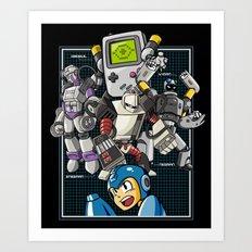 Console Master Robots Art Print