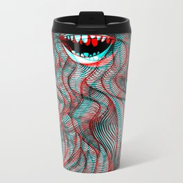 Pogonophobia Metal Travel Mug