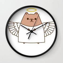 Cute Christmas Angel Pupsheen Wall Clock