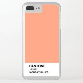 pantone exo-cbx monday blues Clear iPhone Case