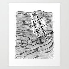 capsized Art Print