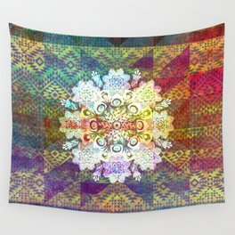 Colorful Snowflake Mandala Wall Tapestry