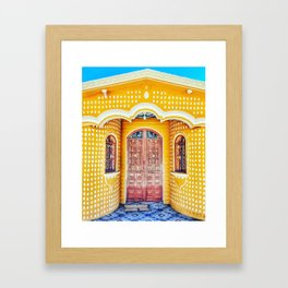 Door (Zequentic, Chiapas, Mexico) Framed Art Print