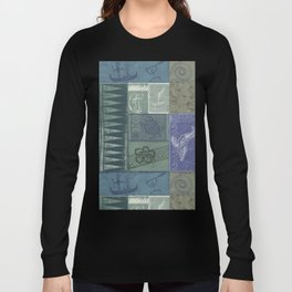Samoan Tribal Tapa Collage Long Sleeve T-shirt