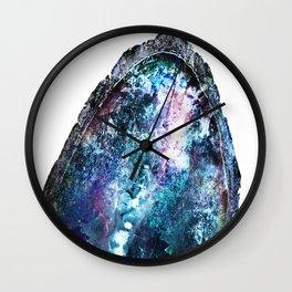Blue Mystic Geode Wall Clock
