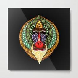 Mandrillus Sphinx Metal Print