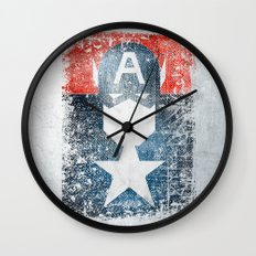 Yankee Captain grunge superhero Wall Clock