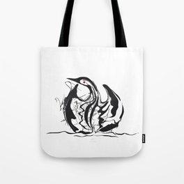 Swan-1. Black on white background-(Red eyes series) Tote Bag