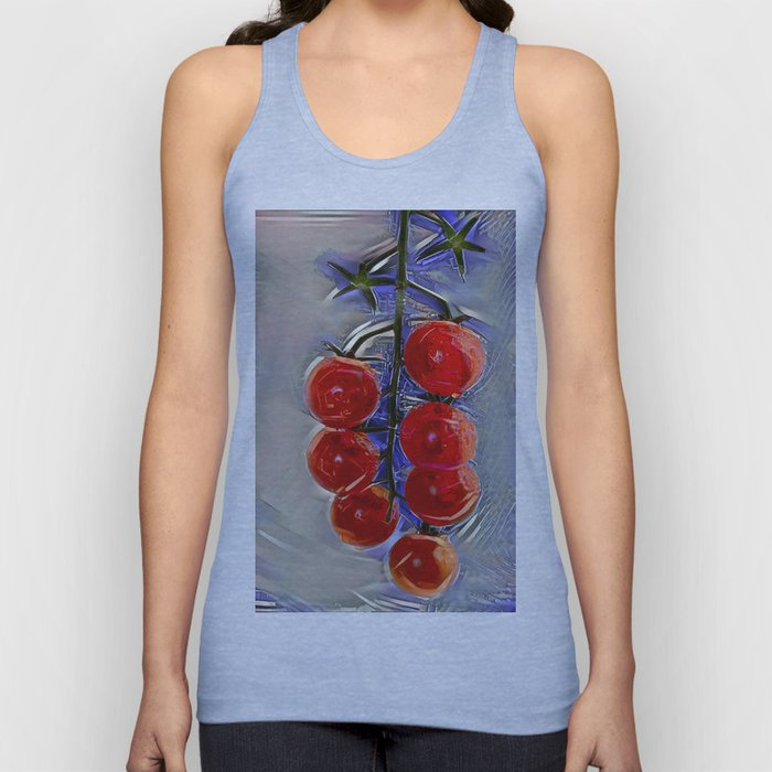 Cherry tomatoes on a branch Unisex Tank Top