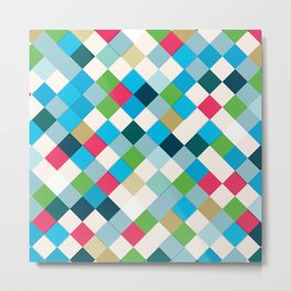 Colorful Mosaic Metal Print
