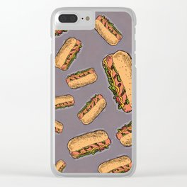 THERE'S ALWAYS TIME FOR A HOT-DOG! - LILAC Clear iPhone Case