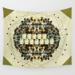 Human Network Wall Tapestry