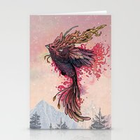 Stationery Cards featuring Phoenix by Mat Miller