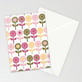 Lino cut flower Stationery Cards