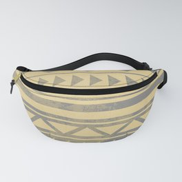 Ethnic geometric pattern with triangles circles and lines Fanny Pack