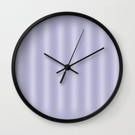 Frosted Lilac Stripes Wall Clock