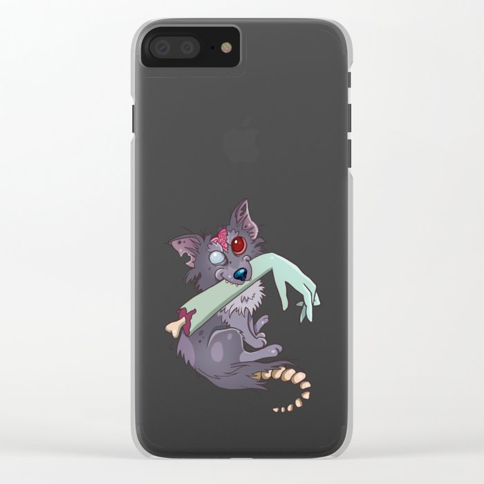 Rufus the zombie dog Clear iPhone Case