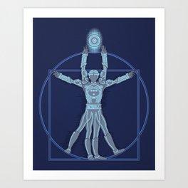 Vitruvian Tron Art Print
