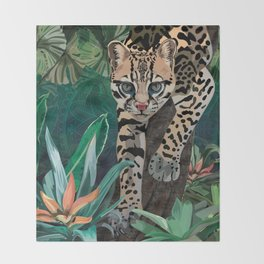 Ocelot Throw Blanket