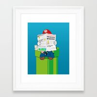 mario Framed Art Prints featuring Mario by Altay