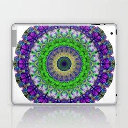Green Light Mandala Art by Sharon Cummings Laptop & iPad Skin
