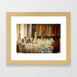 bottle love Framed Art Print