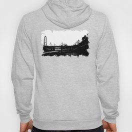 Thames skyline in black and white, London, UK Hoody
