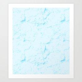 Aqua Marble Art Print
