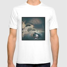 Discarded MEDIUM Mens Fitted Tee White