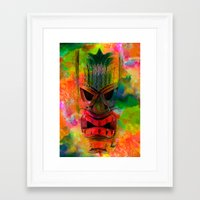 karu kara Framed Art Prints featuring Tiki Kara by Ionic Slasher