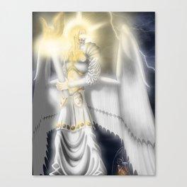 Lucifer Morningstar, The White Angel Canvas Print