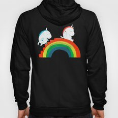 Unicorn on rainbow slide Hoody