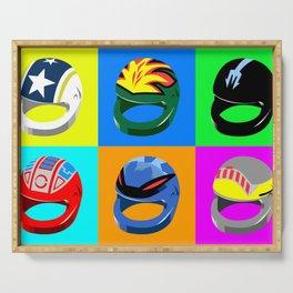 Pop-art Helmets - Variation #3 Serving Tray