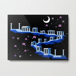 Greek Sanctuary in Pegasus Constellation Metal Print