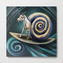 Goat-snail Metal Print