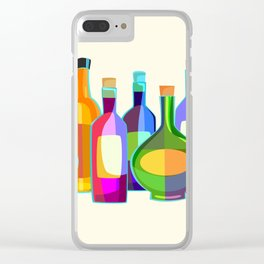 Colored Glass Bottles Clear iPhone Case