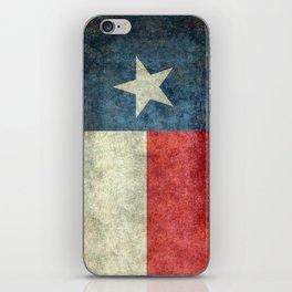 Texas flag, Retro style Vertical Banner iPhone Skin