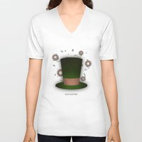 mad hatter V-neck T-shirts featuring Mad Hatter by coalotte
