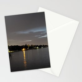 Nighttime on the St Lucie River Stationery Cards