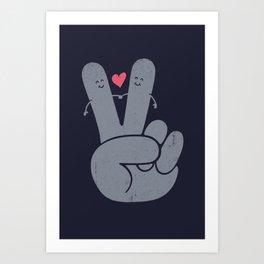 Peae & Love Art Print
