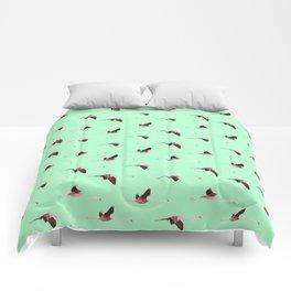 Flying Flamingos 2 Comforters