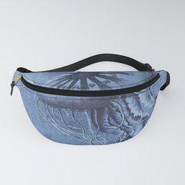 Blue Jellyfish Underwater Magic Fanny Pack