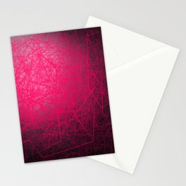 Orbital Cubes Pink Stationery Cards