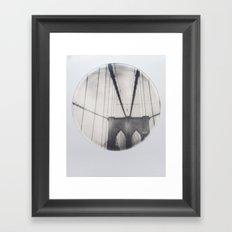 brooklyn bridge polaroid Framed Art Print