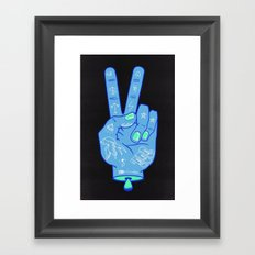 Peace, Love & Music Framed Art Print